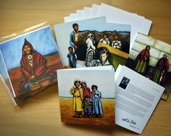 Art cards - package of 6 blank cards