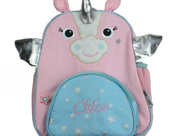 Beautiful Personalised Unicorn Zoocchini Backpack