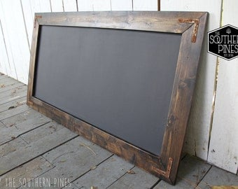 Large Rustic Farmhouse Magnetic Chalkboard | Distressed  | Espresso | Rustic | Wall Hanging | Shabby Chic | Wedding | Reclaimed