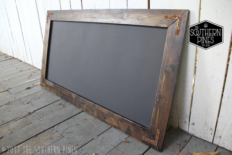 Large Rustic Farmhouse Magnetic Chalkboard Espresso Modern