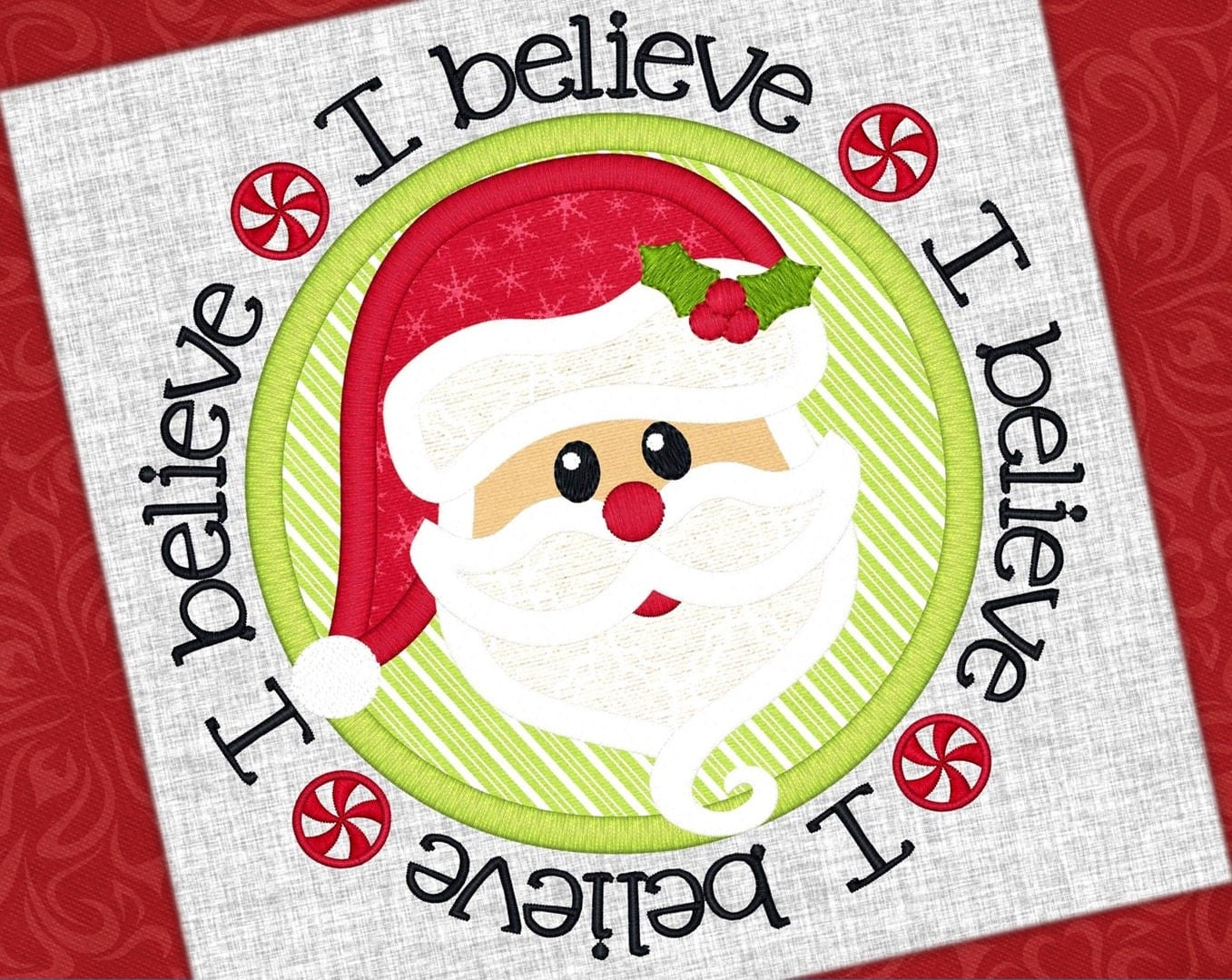 santa applique design i believe santa claus design christmas