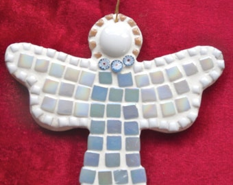 Mosaic Christmas Angel/Mosaic Kit/Christmas Decoration/DIY Christmas Kit/Christmas Tree Decoration