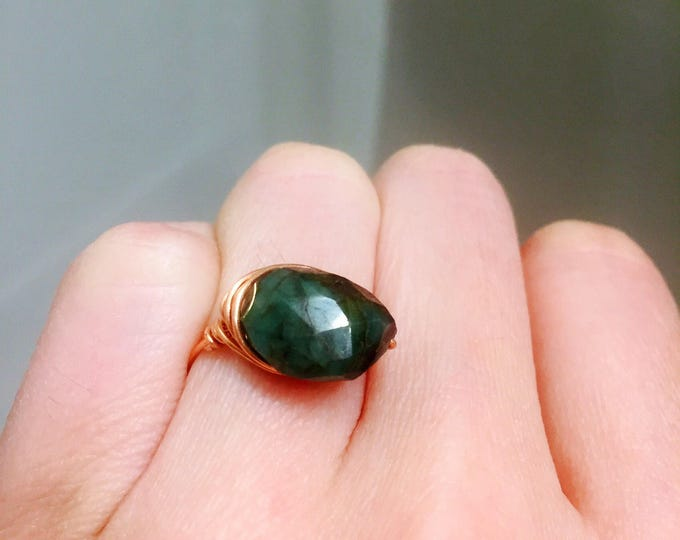 ON SALE: Emerald Healing Ring