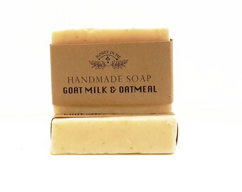 Handmade Goats Milk and Oatmeal Soap