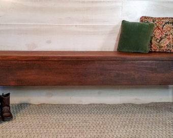 Bench, Walnut Bench, Rustic Bench, Farmhouse Bench, Mudroom Bench, Porch Bench, Entry Bench, Reclaimed Walnut Bench, Furniture