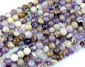 Amethyst Facted 12MM Natural Round Beads 15 strand