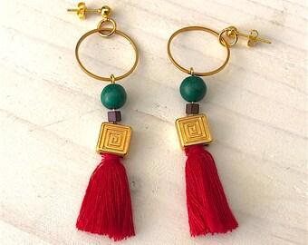 Meandros earrings