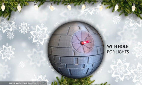 Star Wars Christmas Death Star Tree Topper 3D Printed