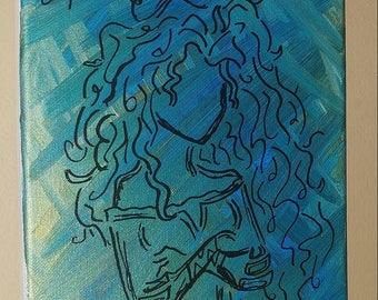 8X10 Merida Abstract Painting