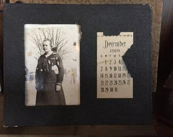 Black amd White Photo Calendar with December 1919