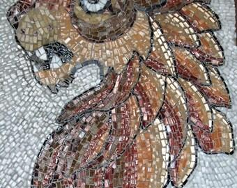 Glass Mosaic Lion based on Ancient Roman Design