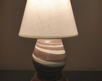 Chocolate Swirl Lamp