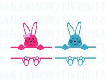 bunny split letter template  SVG   cut file  t-shirtsscrapbook vinyl decal wood sign cricut cameo Commercial use