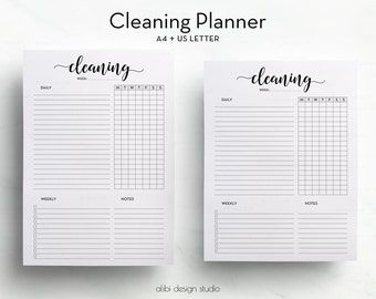 Cleaning Planner, A4 printable, Cleaning Schedule, Printable Planner, Cleaning Tracker, Cleaning Printable, A4 Planner, To Do List