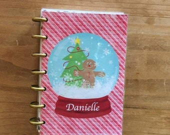 Happy planner Christmas cover / holiday / snow globe winter planner cover / mini happy planner / happy planner  /planner supplies / planner