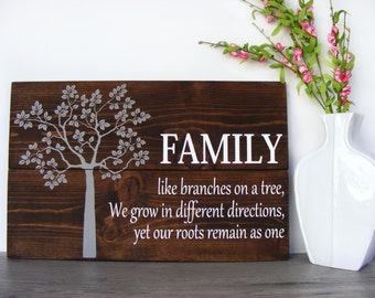 Family Tree Wall Art Wood Signs Sayings Wood Wall Art Family Wall Hanging