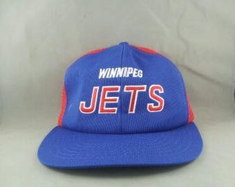 Winnipeg Jets Hat (VTG) - Script Front - Two Tone Colorway - Adult Snapback