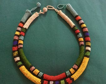 Vintage Ndebele Beaded Necklaces
