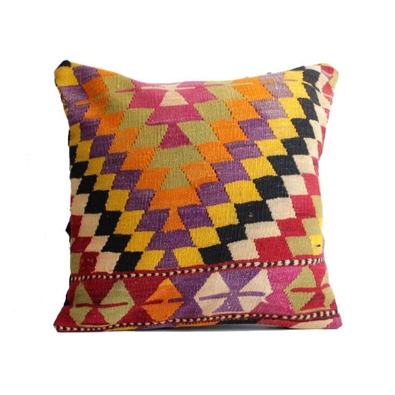 24x24 Kilim Pillow Cover Floor Cushion Large Size Floor