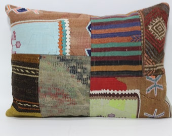 Decorative Kilim Pillow Throw Pillow Sofa Pillow 24x32 Patchwork Kilim Pillow Anatolian Kilim Pillow Floor Pillow Sofa Pillow  SP6080-665