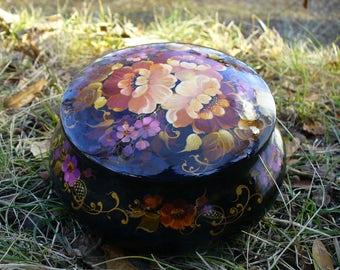 """Wooden box """"Flowers"""". beautiful jewelry box"""
