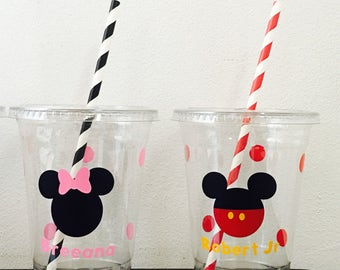 Mickey or minnie mouse cups (sold by the dozen)