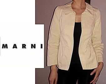 MARNI Vanilla Color Cotton Jacket