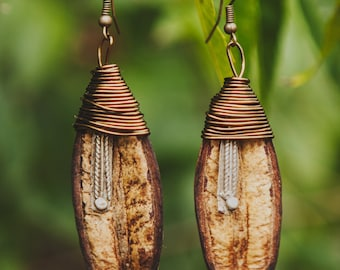 Seed Pod Earrings (Ethiopian Protection)