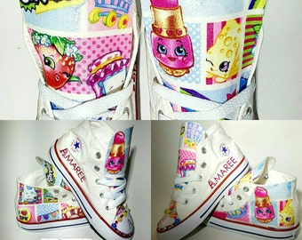 Bling Shopkins Converse shoes, crystal chucks