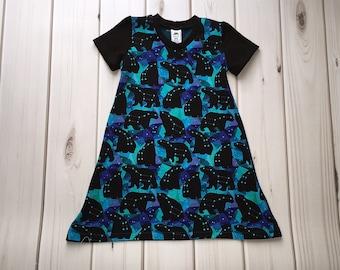 Constellation Dress - Galaxy Dress - Space Dress - Astronomy Dress - Science Dress - Summer Dress - Star Dress - Girls Dress