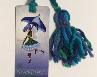 Rain Fairy Bookmark // print // illustration