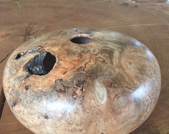 Cherry burl hollow form
