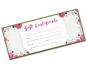 printable blank gift certificates