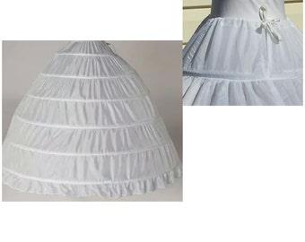 Bridal Petticoat Hoops Petticoat White Ball Gown Petticoat Wedding Petticoat Gowns Underskirt Wedding Dress Petticoat Large Petticoats