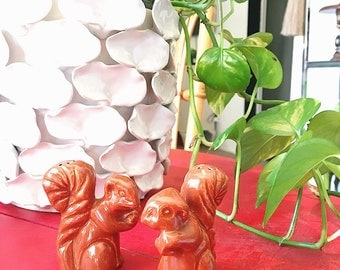 Vintage Squirrels Salt + Pepper Shakers