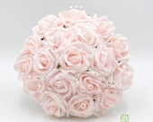 Artificial Wedding Flowers, Blush Pink Bridesmaids Bouquet Posy