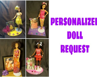 Personalized doll display. Please send inquiry before purchasing.