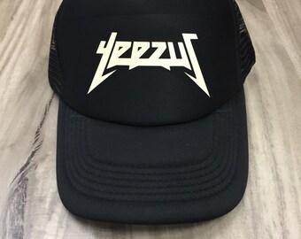 Yeezus hat kanye west (Cream- Print)