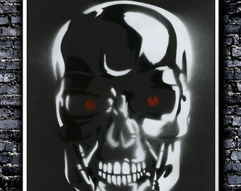 The Terminator - A3 Signed Original (Inspired by The Terminator)