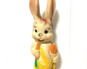 Vintage Combex?  Rabbit with Carrots Squeaky Toy