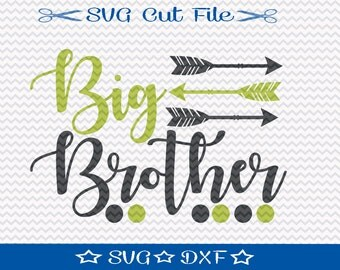 Big Brother SVG File / SVG Cut File for Silhouette / Little Boy svg / Best Brother svg