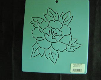 Sashiko Japanese Embroidery Stencil 6 in. Asian Peony Flower/Quilting