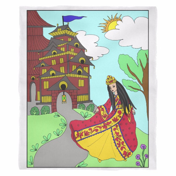 Princess Lea's Castle Blanket Asian Princess Princess Lea Princess Blanket