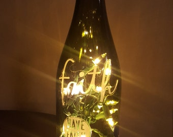 Lighted Bottle - FAITH