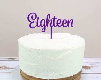 Written Number Cake Topper - Age Cake Topper - Number Cake - Birthday Cake Topper - Birthday Cake - Number Topper - Bright Cake Topper