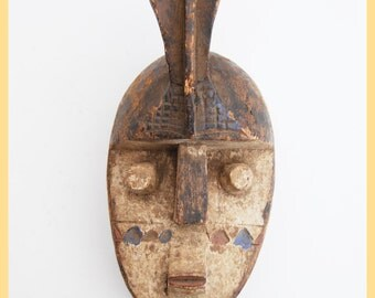 GURUNZI TRIBE MASK - Reference Mask Original, From the Gurunzi Tribe, Burkina Fasso, West Africa