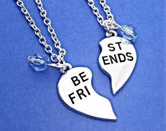 Best Friends Necklace Set.Customized,Set of Two Friendship Necklaces,Best Friend,Bff Charm,Friendship Necklaces,Best Friend Jewelry, Friend