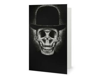 Card Greeting , Gothic Card , Skull , Halloween , Dia de los muertos , Gothic , Creepy Card , Dark Art , Dark Macabre , Day of the Dead