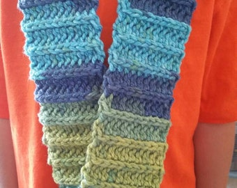 Child's ribbed scarf