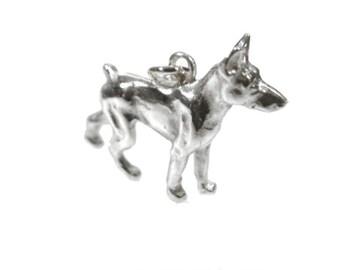 Doberman Pinscher pendant Silver 925 dog dogs pendant silver